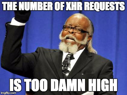 Too many XHR requests